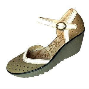 Fly London Leather Yven Cutout Mary Janes 40